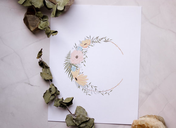 Moon of Flowers - Color - 8.5 x 11 Print