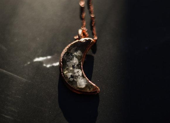Labradorite & Yarrow Moon Necklace