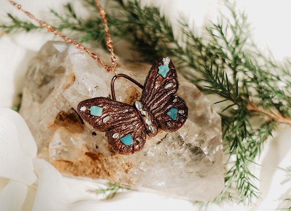 Turquoise & Herkimder Diamond Necklace