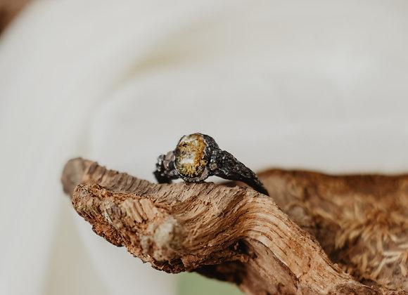 Moss & Herkimer Diamond Ring - Size 6.5
