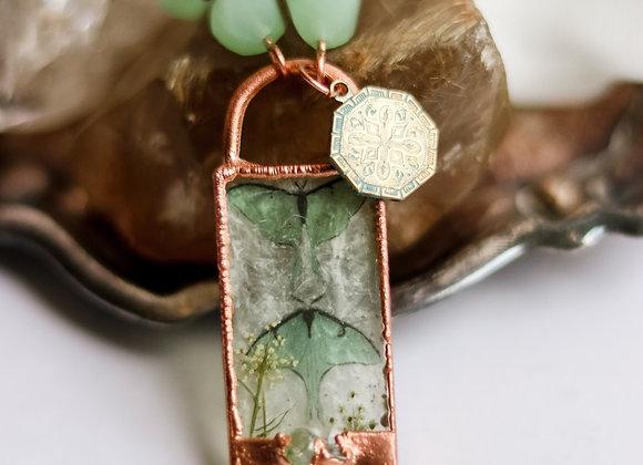 Luna Moth Long Necklace