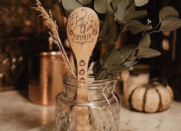 'Hey There Pumpkin' Bamboo Spoon