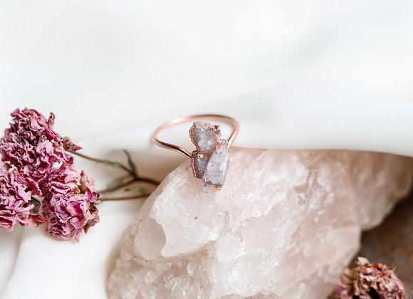 Druzy & Amethyst Ring