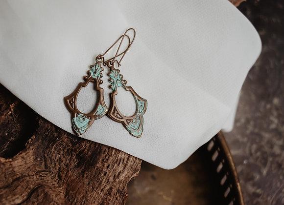 Vintage Style Brass Earrings