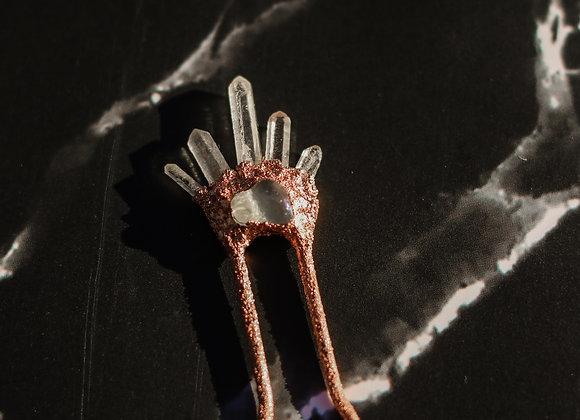 Aura Quartz Hair Pin