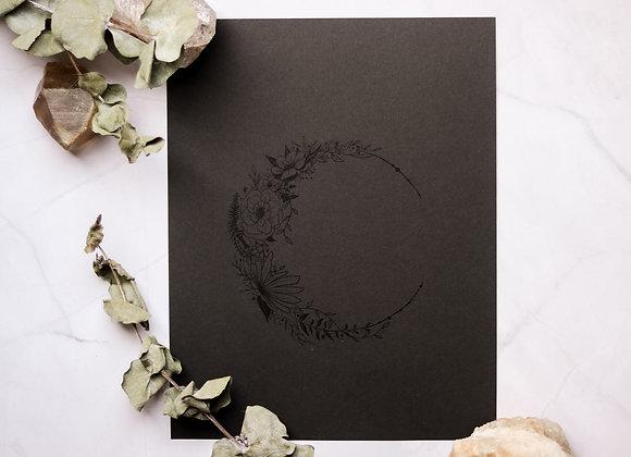 Moon of Flowers 8.5 x 11 Print
