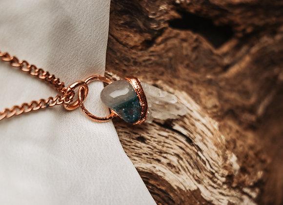 Chrysocolla & Quartz Necklace