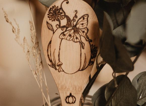 Pumpkin & Moth Bamboo Spoon