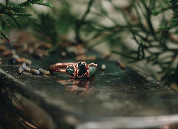 Green Tourmaline Ring - Size 5.5