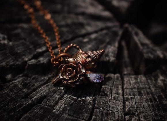 Amethyst Sea Shell Necklace