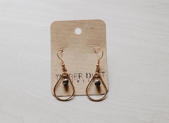Teardrop Pyrite Earrings