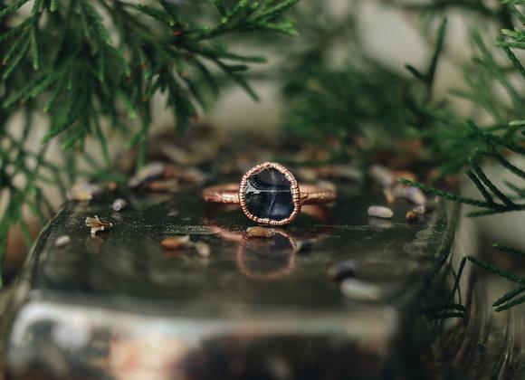Blue/Purple Tourmaline Ring - Size 7.5