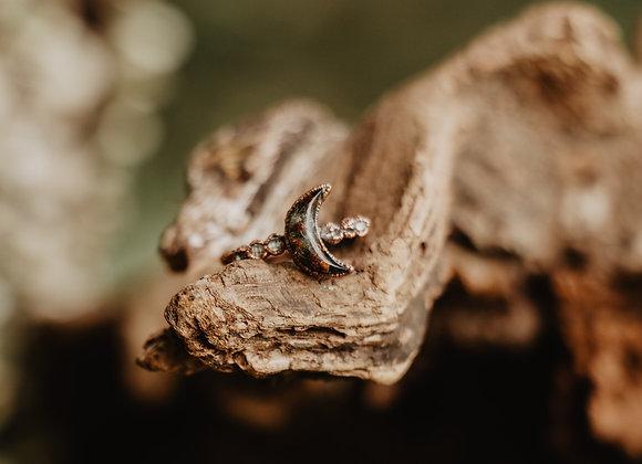 Mushroom Moon & Herkimer Diamond - Size 6.5/7