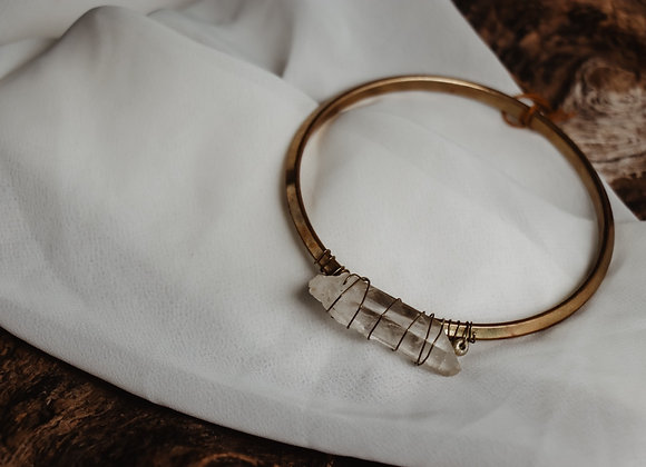Brass Quartz Bracelet