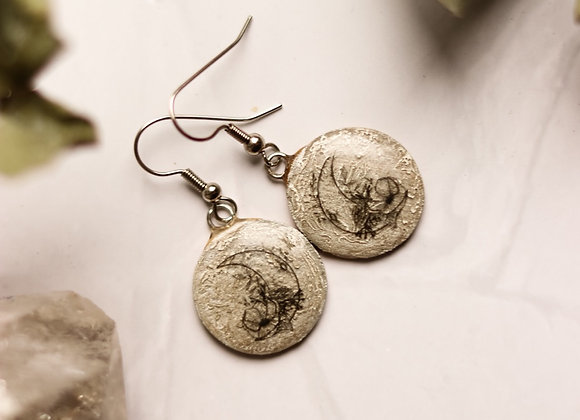 Moon & Flowers Earrings