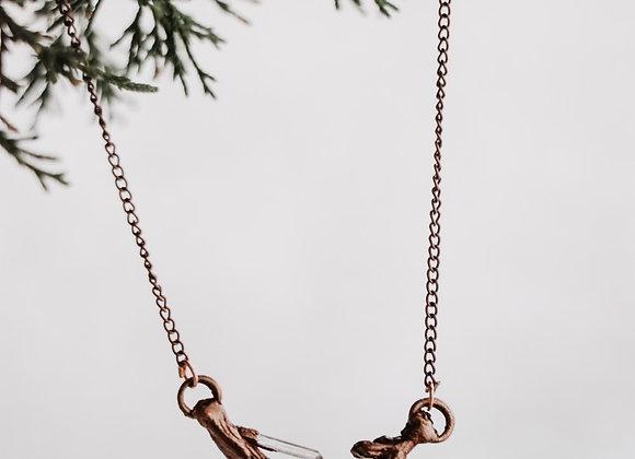 Quartz Branch Necklace