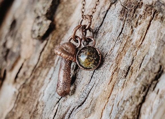 Moss & Mushroom Necklace
