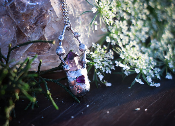 Amethyst Point & Chip Necklace