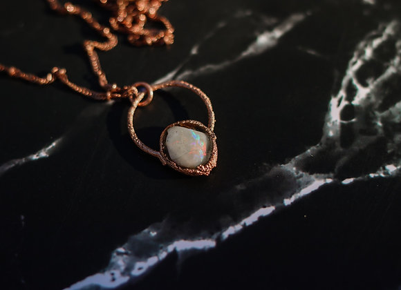 Opal & Moss Necklace