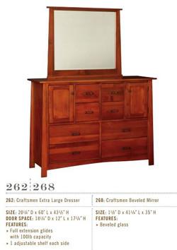 Craftsmen Extra Large Dresser and Mirror