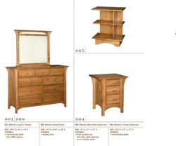 Amish Dresser and Side Table