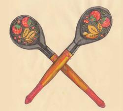 Spoons Crossed