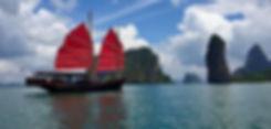 visite baie de phang nga en jonque traditionnel