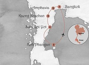 carte circuit authentique thailande