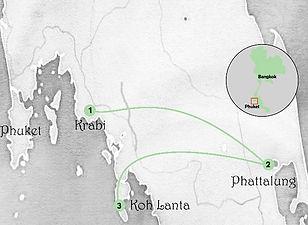 carte circuit sud de la thailande