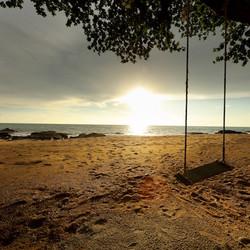 couche de soleil plage thailande