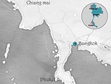 Carte de bangkok thailande
