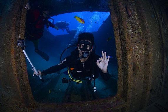 site de plongée avec épaves