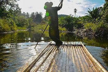 bambou rafting avec guide francophone