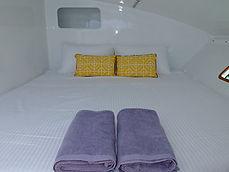 Chambre a bord du catamaran