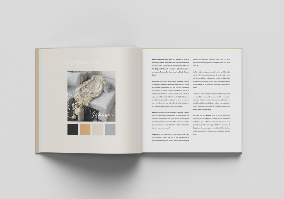 'Home is where love lives' book design