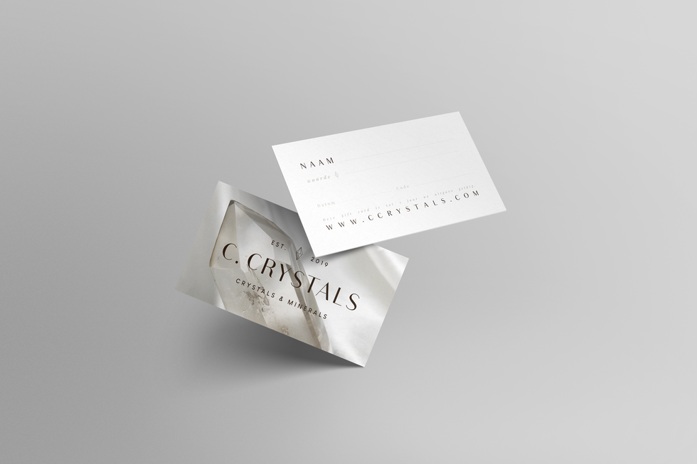 C. Crystals - gift card