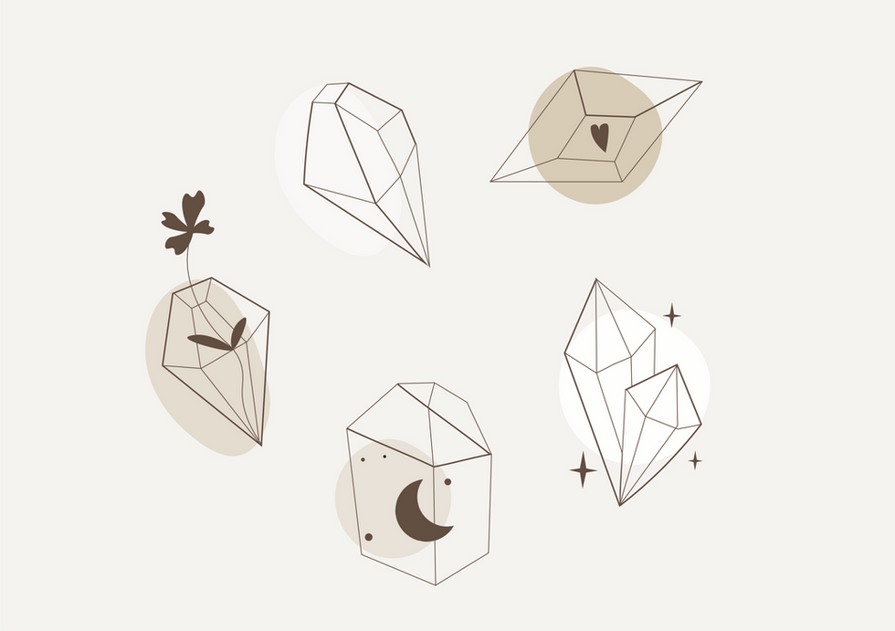 C. Crystals - social icons