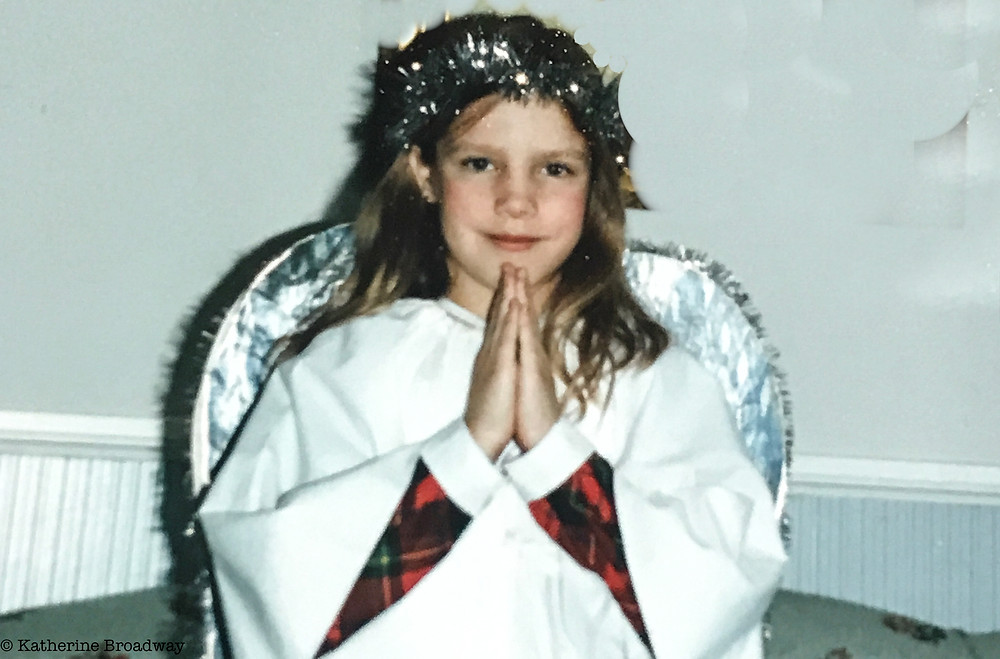 Image of young girl in angel costume. Raleigh Psychotherapy, Counseling, perfectionism