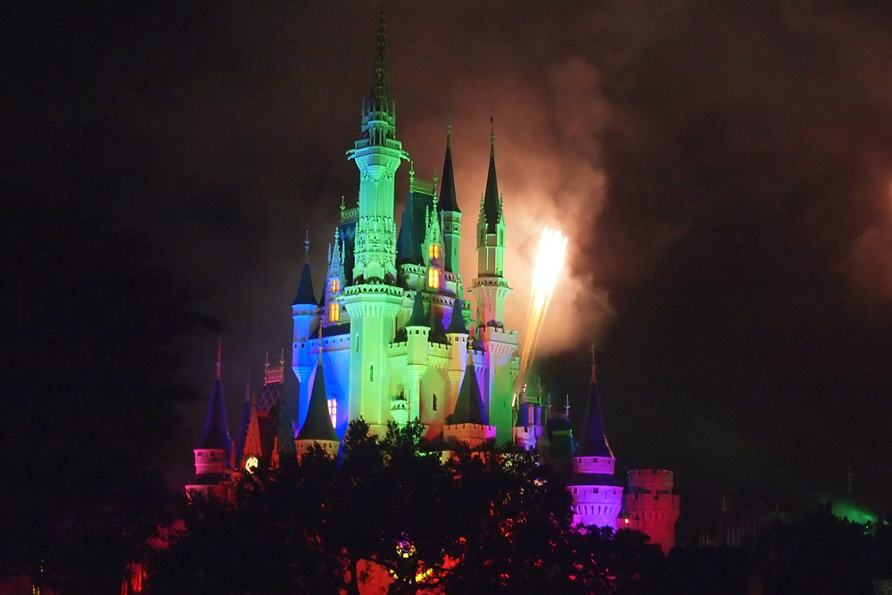 Image of Disneyland castle lighted up at night. Raleigh Psychotherapy, Counseling, Love, Katherine Broadway