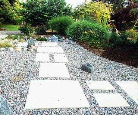 Photo of garden path on gravel. © Katherine Broadway