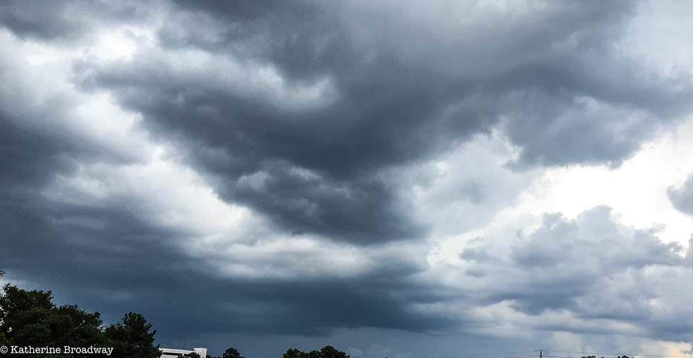 Image of storm clouds. Raleigh Psychotherapy, counseling, bad news, Katherine Broadway