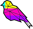 Drawing of multicolored bird