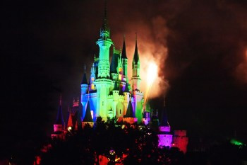 Image of fairytale castle lighted at night. Photo © Katherine Broadway, Raleigh Psychotherapy, Counseling
