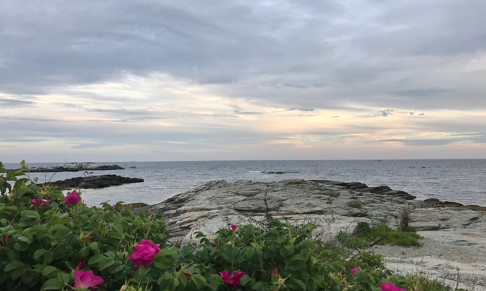Image of the sea beyond a rocky out crop. Raleigh Psychotherapy, counseling, Anger, Katherine Broadway