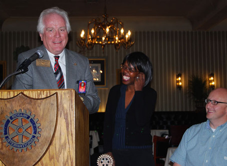 District Governor Inducts New Member