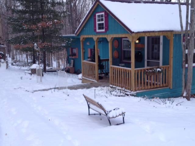 my studio in the snow