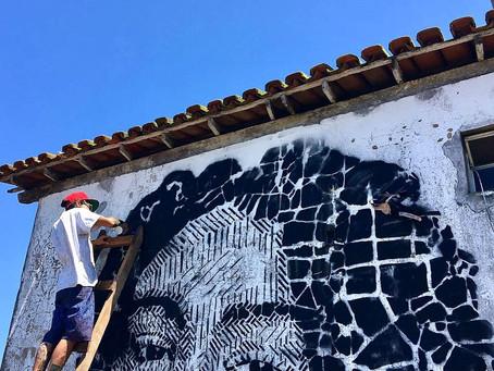 Graffiti- Beira de rio, frente do Mar
