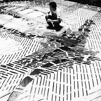 The World's Largest Stencil, izolag, stencil, kingstencil, king stencil, graffiti, grafite, stencil art, Mural Liceu das Artes Centro do Rio de Janeiro