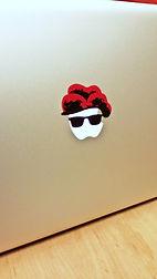 Aufkleber auf einem Mac Book Bollenhut Schwarzwald