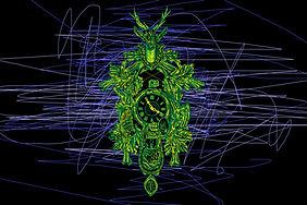 LP48 Selina Haas Design Kuckucksuhr modern Leinwandbild Wandbild